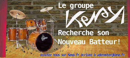 le groupe Kena recherche son nouveau Batteur écoutez nous sur www.kena.fr